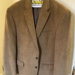 Chaps men's suede blazer
